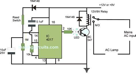 automatic washroom light switch circuit diagram circuit