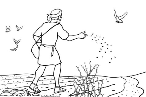 free coloring pages of parable the sower puzzles