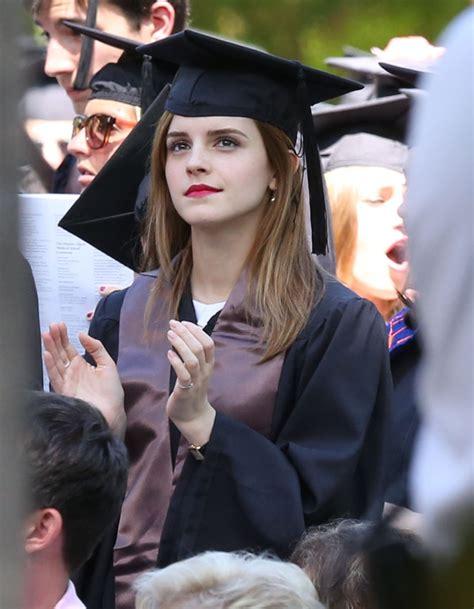 emma watson degree emma watson graduates from brown university 182027
