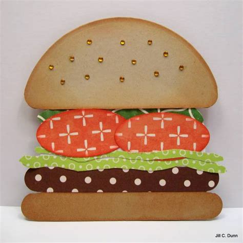 How To Make A Paper Hamburger - hamburger card jbe054 by ctrmom3 cards and paper crafts