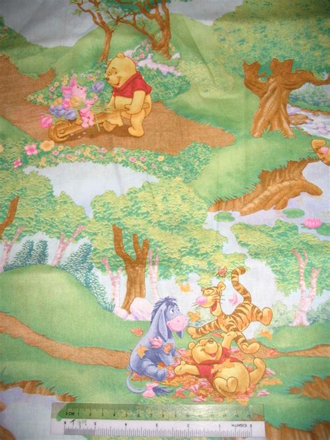 Winnie The Pooh Quilting Fabric by Winnie The Pooh Tigger Eeyore Piglet Cotton Quilting
