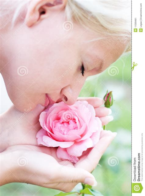 the smell of fresh the pleasures of our most elusive sense books pretty enjoys smell of pink stock image