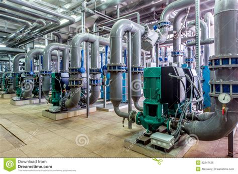 boiler room lines interior gas boiler room with pipelines and pumps stock photo image of automation
