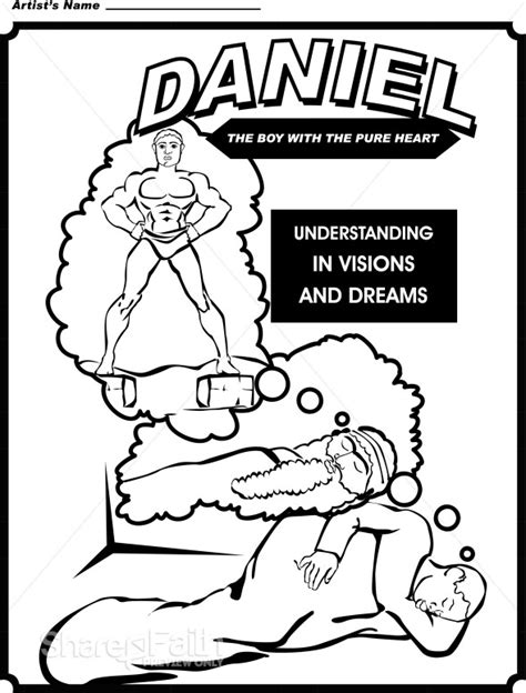 coloring pages book of daniel daniel coloring page childrens church clipart