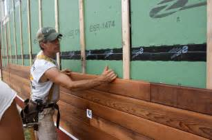 Staining Wainscoting Siding Design Amp Construction Of Spartan Amp Hannah S Home