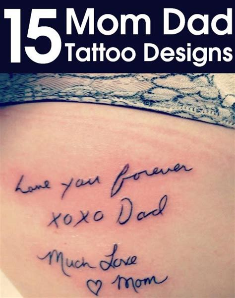 small mom and dad tattoos top 15 designs tatoo