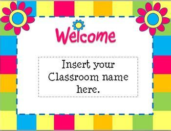 open house flower themed powerpoint template by teaching 4