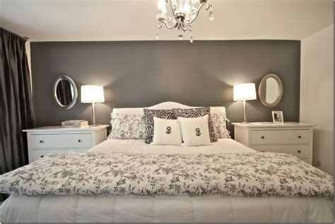 gray accent wall bedroom ideas