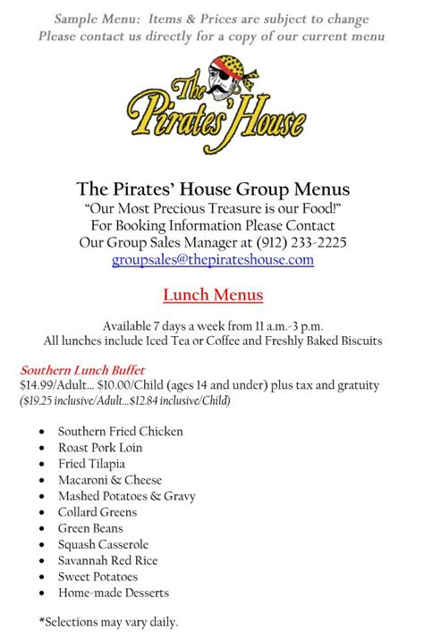 pirates house menu pirate house menu 28 images home breakfast lunch diner drink dessert menu contact