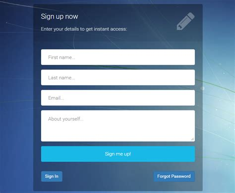 download bootstrap login registration forgot password template