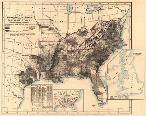 united states civil war map 1860 1864 map showing slavery antique black history u s