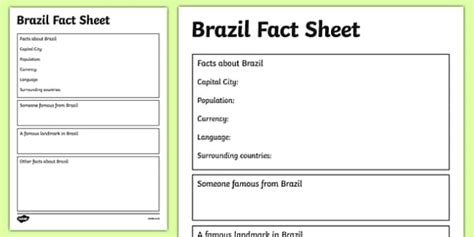 fact file template ks2 brazil factsheet writing template brazil brazil fact sheet