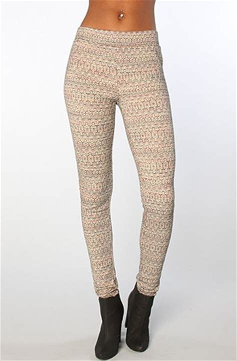 wool patterned leggings free people the patterned double knit leggings in black