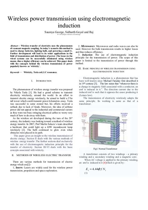 electromagnetic induction wireless energy transfer wireless power transmission