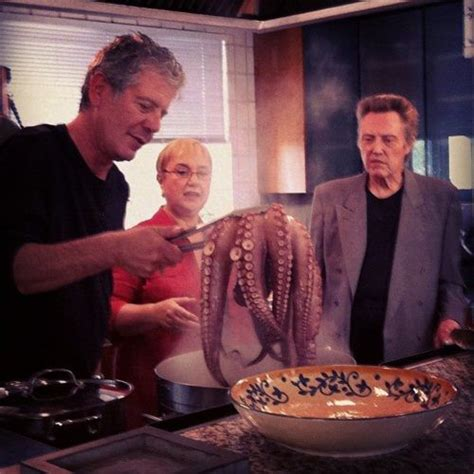 anthony bourdain and tre cool anthony bourdain lidia bastianich and christopher walken