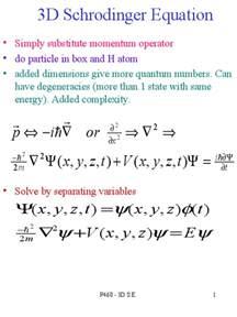 3d schrodinger equation docslide