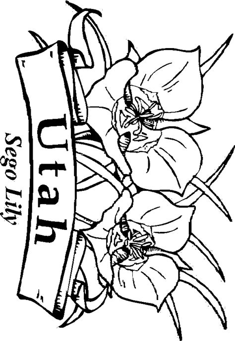 coloring pages utah utah free coloring pages