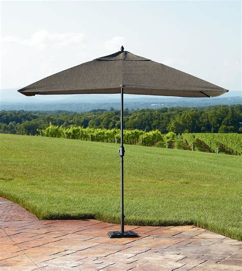 Patio Umbrellas Rectangular by Green Weston 9 Rectangular Umbrella Outdoor