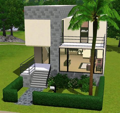 Sims 3 Modern House Floor Plans Small Modern House Sims 3 Sims 3 House Blueprints Modern Small House Mexzhouse