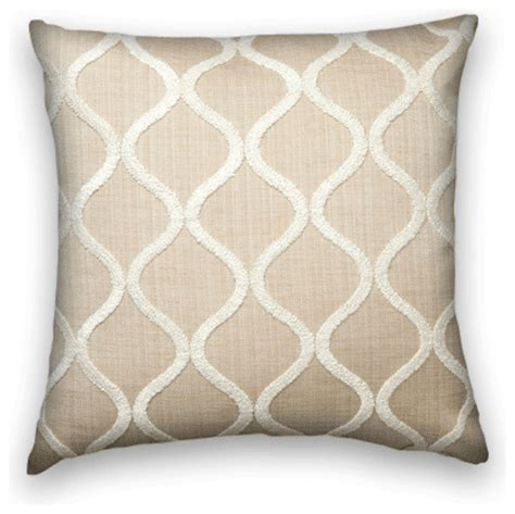 beige sofa pillows beige with cream chenille throw traditional decorative