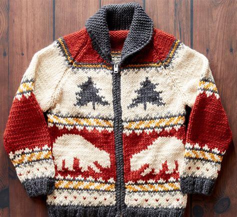 knitting pattern bear jumper polar bears and pine knit sweater pattern favecrafts com