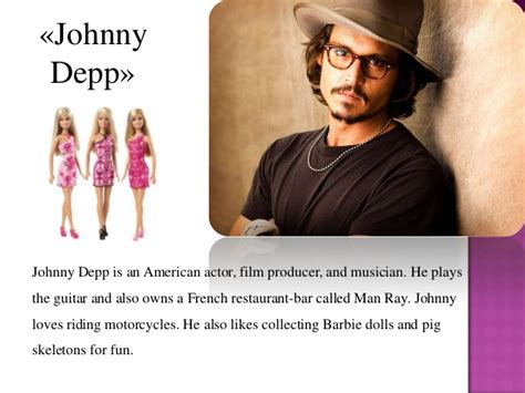 johnny depp biography ppt power point presentation strange hobbies
