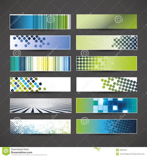 12 Blank Banner Designs Stock Vector Image Of Colorful With Banner Designs