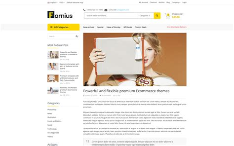 store template html5 farnius furniture store html5 website template 76194