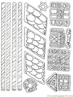 printable gingerbread house pieces gingerbread house printable gingerbread house pieces 3