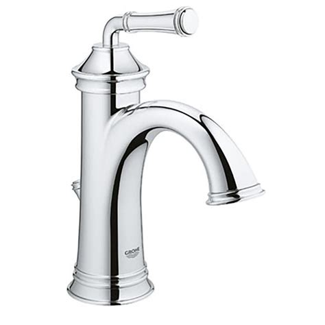 grohe single bathroom faucet shop grohe gloucester chrome 1 handle single 4 in