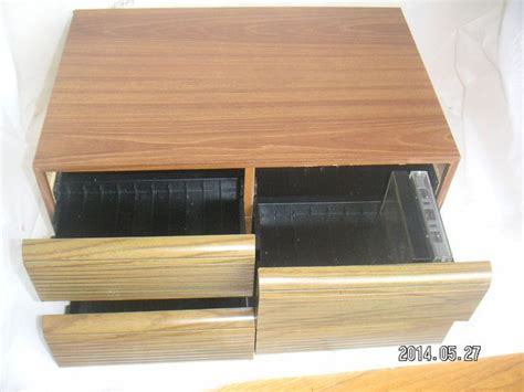 cassette storage cabinet wood audio cassette 80 holder 4 drawer storage