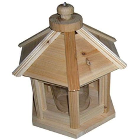 Outside Bird Feeders Outdoor Decor Hexagon Wooden Bird Feeder