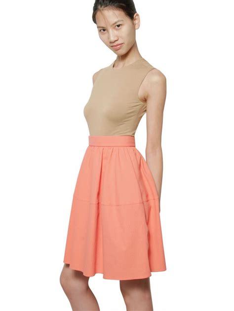 Dress Pendek Mini Dress Two Tone White Pink Sweet Style lyst carven two tone seersucker dress in pink