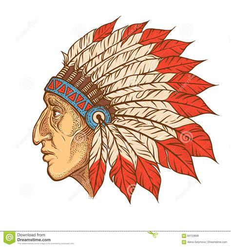 apache head symbol vector cartoon vector cartoondealer