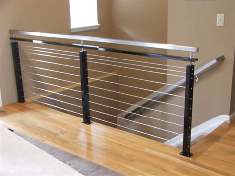 stainless steel banisters modern interior stair railing modern stainless steel