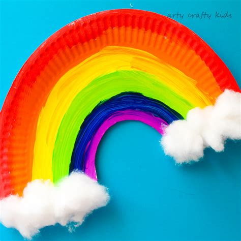 easy paper plate rainbow craft arty crafty kids
