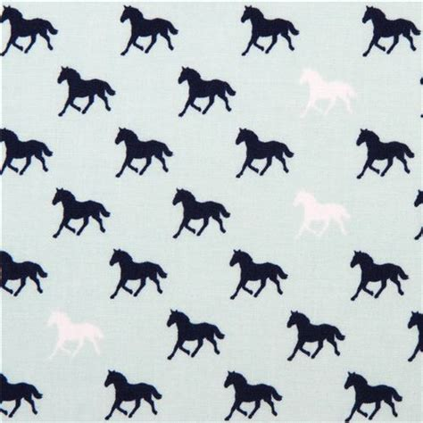 pattern for fabric horse aqua riley blake mustang stallion horse fabric derby style