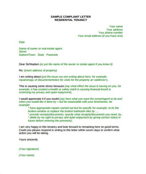 Complaint Letter Format Ppt Sle Complaint Letter Format 9 Documents In