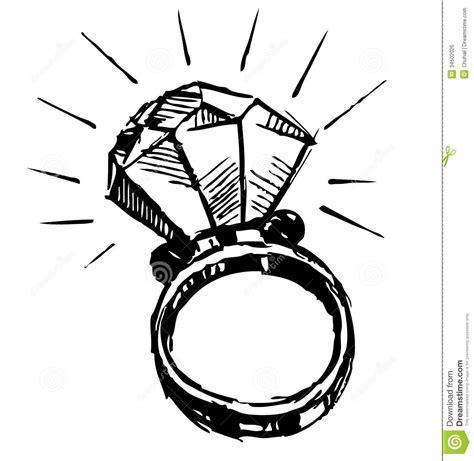 ring met een grote sparling diamant royalty vrije stock
