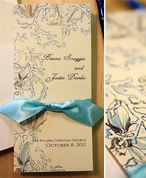 Water Themed Wedding Invitations by Soft Brown And Aqua Inspired Painted Wedding