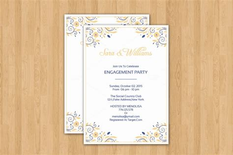 word template for invitation 20 engagement invitation template word indesign and psd