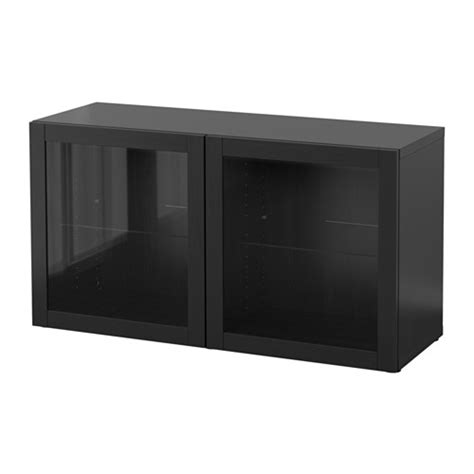 besta shelf unit with glass doors best 197 shelf unit with glass doors sindvik black brown 47 1 4x15 3 4x25 1 4 quot ikea
