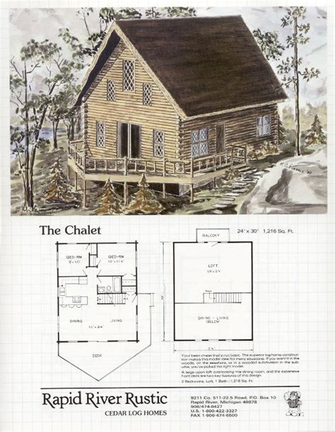 Rapid River Rustic Cedar Log Homes Chalet Floor Plans Plans For Chalet Homes