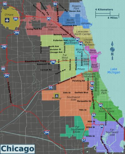 chicago city limits map user tristan cotswold water park wikitravel