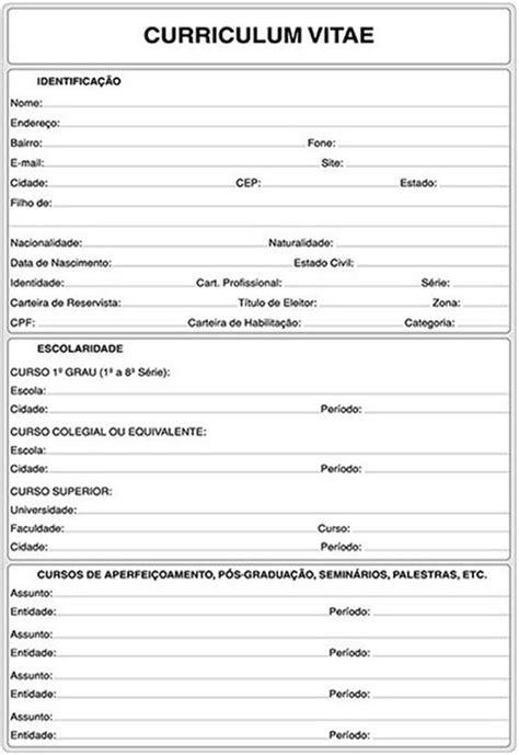 Modelos De Curriculum Vitae Para Completar En Español Curriculum Vitae Curriculum Vitae Para Imprimir