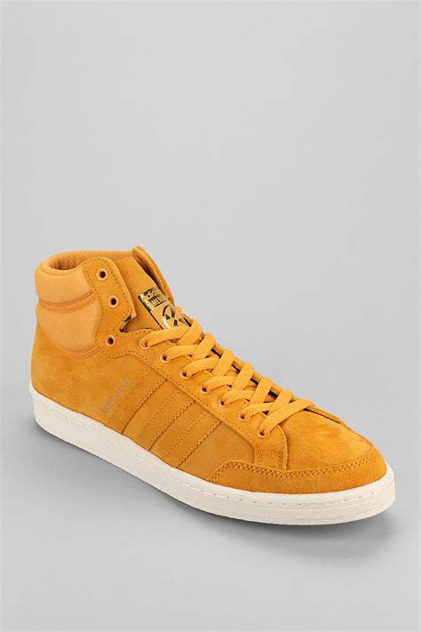 outfitters adidas americana hi88 sneaker in gold for lyst