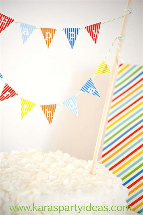 35 Best Images About Bunting Printables On Pinterest Paper Bunting Party Printables And Free Mini Cake Banner Template