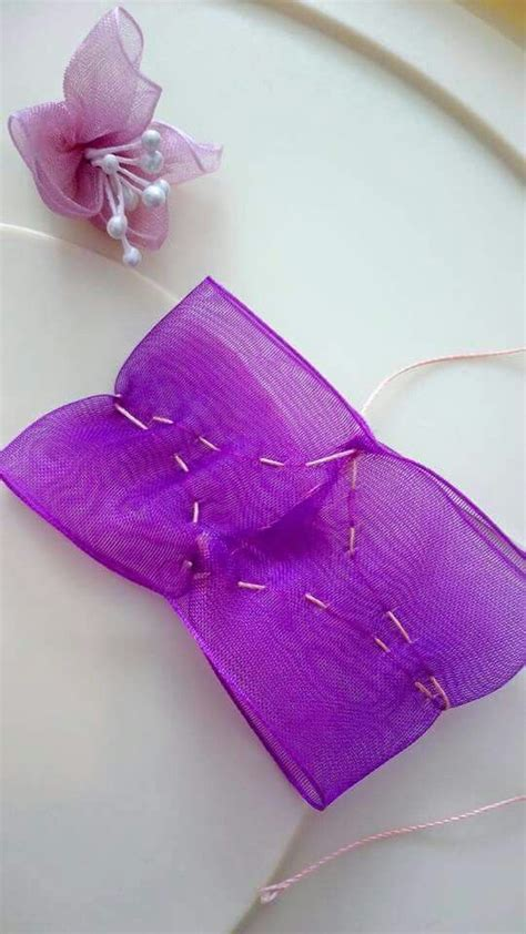 organza bow tutorial diy bow bows and diy and crafts on pinterest