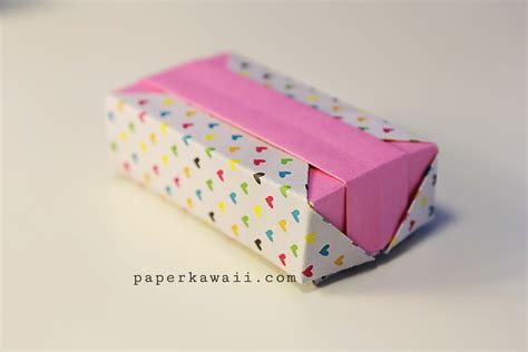 origami gift box tutorial paper kawaii