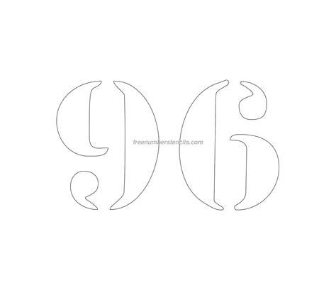 printable curb number stencils free curb painting 96 number stencil freenumberstencils com
